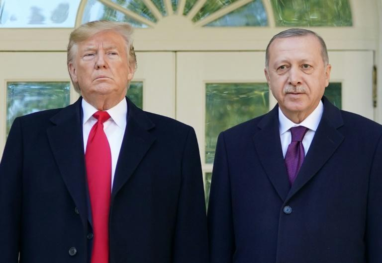 Turkish President Recep Tayyip Erdogan, seen here with President Donald Trump, confirmed the test of the S-300 missile system