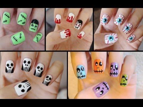 """<p>This video shows five cute and easy nail tutorials perfect for beginners, including Frankenstein, Dracula, bloodshot eyes, skulls, and monster-zombies. Do yourself a favor and order <a href=""""https://www.amazon.com/Kangler-Nail-Pens-Colors-Decoration/dp/B088HG34PF/"""" rel=""""nofollow noopener"""" target=""""_blank"""" data-ylk=""""slk:nail pens"""" class=""""link rapid-noclick-resp"""">nail pens</a> and other tools—you'll be glad you did!</p><p><a class=""""link rapid-noclick-resp"""" href=""""https://www.amazon.com/JSDOIN-Dotting-Tool-Paint-Manicure/dp/B07GBS9WLX/?tag=syn-yahoo-20&ascsubtag=%5Bartid%7C10050.g.33512580%5Bsrc%7Cyahoo-us"""" rel=""""nofollow noopener"""" target=""""_blank"""" data-ylk=""""slk:SHOP DOTTING TOOLS FOR NAILS"""">SHOP DOTTING TOOLS FOR NAILS </a></p><p><a href=""""https://www.youtube.com/watch?v=njBmnVEV7Bc"""" rel=""""nofollow noopener"""" target=""""_blank"""" data-ylk=""""slk:See the original post on Youtube"""" class=""""link rapid-noclick-resp"""">See the original post on Youtube</a></p>"""