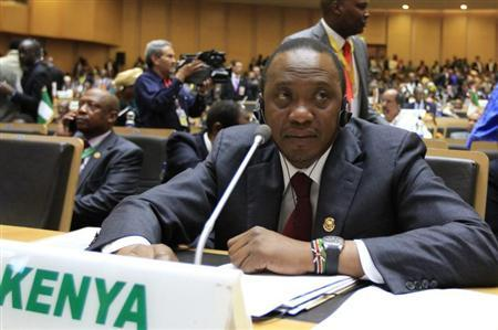 Kenyatta attends the opening ceremony of the 22nd Ordinary Session of the African Union summit in Ethiopia's capital Addis Ababa