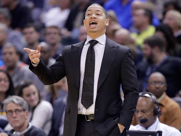 Tyronn Lue points to The Switch. (Getty Images)