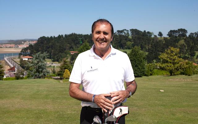 Seve Ballesteros on the golf course just before his death - HEATHCLIFF O'MALLEY