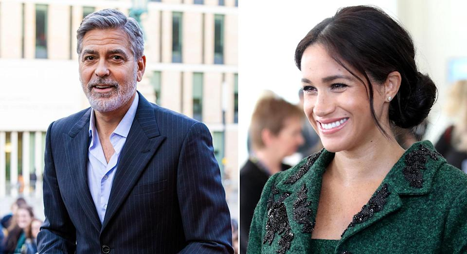 George Clooney has spoken out in defence of Meghan again [Photos: Getty]