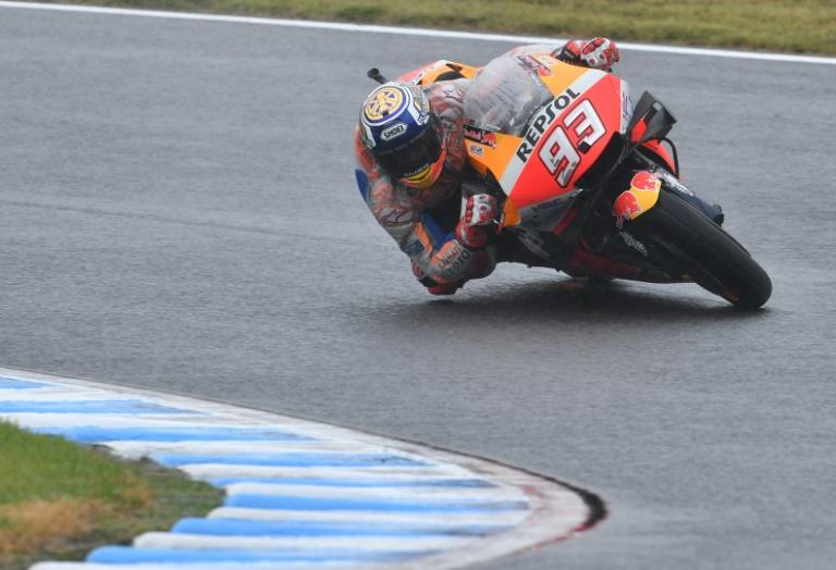 Marc Marquez clocked 1min 45.763sec for his first pole start in the premier class at Twin Ring Motegi, where he won in 2016 and last year