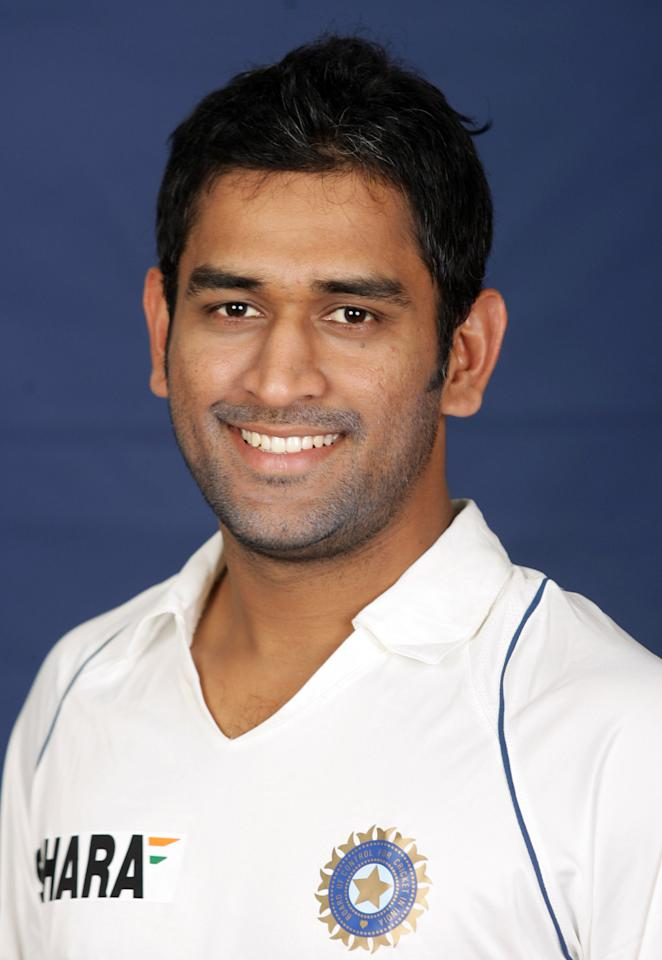 MELBOURNE, AUSTRALIA - DECEMBER 19: MS Dhoni of India poses during the Indian cricket team portrait session at the Melbourne Cricket Ground on December 19, 2007 in Melbourne, Australia. (Photo by Lucas Dawson/Getty Images)