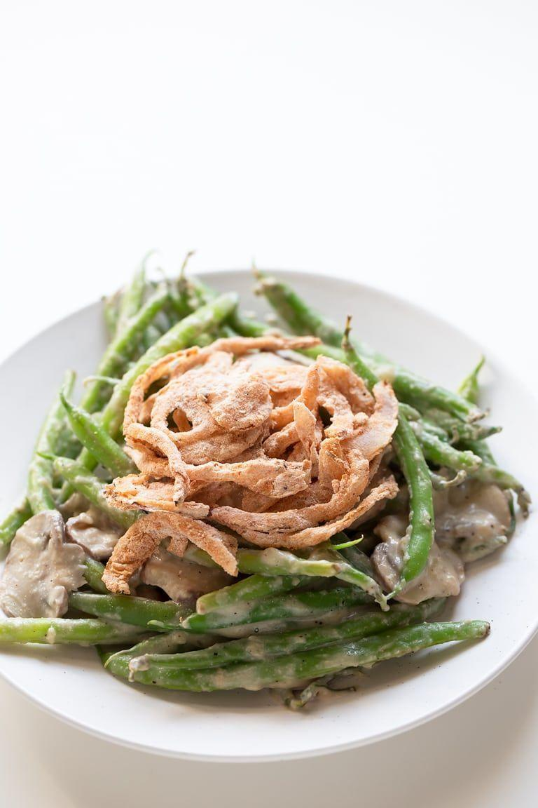 "<p>Remember the casserole your mom or grandma used to make, with green beans topped with a big plop of canned mushroom soup and crispy onions? Here is the healthier, vegan version of the same classic side. </p><p><em><a href=""https://simpleveganblog.com/vegan-green-bean-casserole-gluten-free/"" rel=""nofollow noopener"" target=""_blank"" data-ylk=""slk:Get the recipe from Simple Vegan Blog »"" class=""link rapid-noclick-resp"">Get the recipe from Simple Vegan Blog »</a></em></p>"