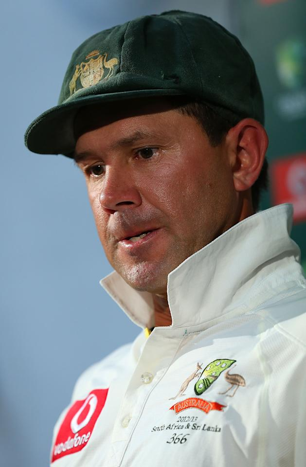 PERTH, AUSTRALIA - DECEMBER 03:  Ricky Ponting of Australia addresses a media conference after playing his last International cricket match during day four of the Third Test Match between Australia and South Africa at WACA on December 3, 2012 in Perth, Australia.  (Photo by Paul Kane/Getty Images)