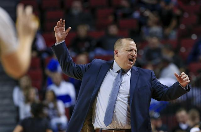 Tom Thibodeau clearly mellowed out during his year away from the bench. (AP)