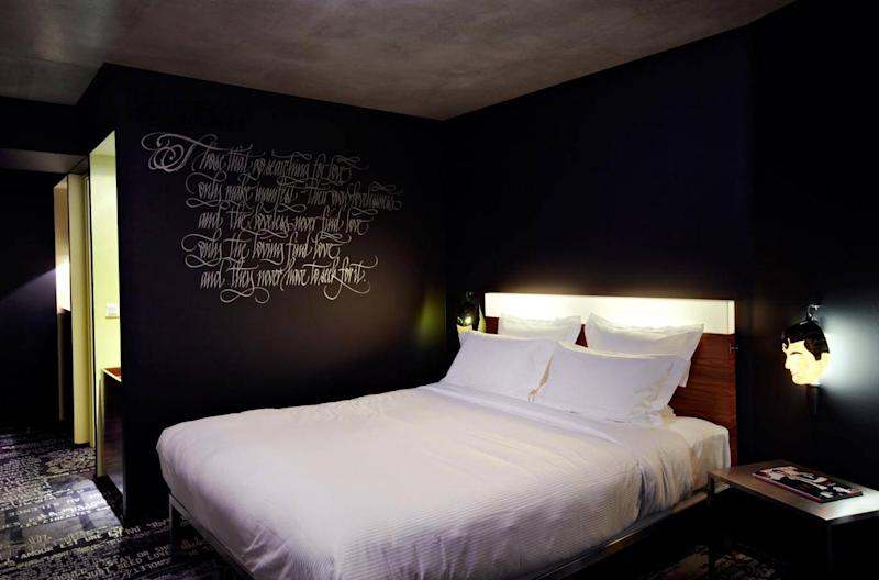 The Starck-designed hotel is the ideal launchpad to explore the hip Belleville district (Mama Shelter)