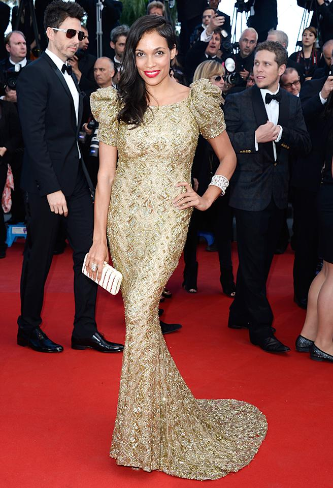 CANNES, FRANCE - MAY 21:  Actress Rosario Dawson attends the 'Cleopatra' premiere during The 66th Annual Cannes Film Festival at The 60th Anniversary Theatre on May 21, 2013 in Cannes, France.  (Photo by Pascal Le Segretain/Getty Images)