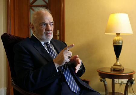 Iraqi Foreign Minister Ibrahim al-Jaafari speaks during an interview with Reuters in Cairo, Egypt September 13, 2017. REUTERS/Mohamed Abd El Ghany