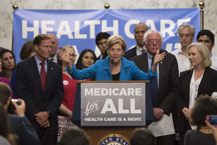 Warren and Sanders are two candidates in support of Medicare for All. (Photo: JIM WATSON/AFP via Getty Images)