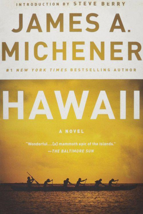 """<p><strong><em>Hawaii </em>by James A. Michener</strong></p><p><span class=""""redactor-invisible-space"""">$12.29 <a class=""""link rapid-noclick-resp"""" href=""""https://www.amazon.com/Hawaii-James-Michener/dp/0375760377/ref=tmm_pap_swatch_0?tag=syn-yahoo-20&ascsubtag=%5Bartid%7C10050.g.35990784%5Bsrc%7Cyahoo-us"""" rel=""""nofollow noopener"""" target=""""_blank"""" data-ylk=""""slk:BUY NOW"""">BUY NOW</a></span></p><p>Author and Pulitzer Prize winner James A. Michener brings Hawaii's history to life in the novel named after the state. When the Polynesian seafarers stepped foot on the islands, they made it their home. Then in the early 19th century, the American missionaries forced them into a new way of life. </p>"""