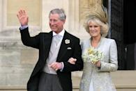 <p>Charles and Camilla's wedding in 2005 (PA) </p>