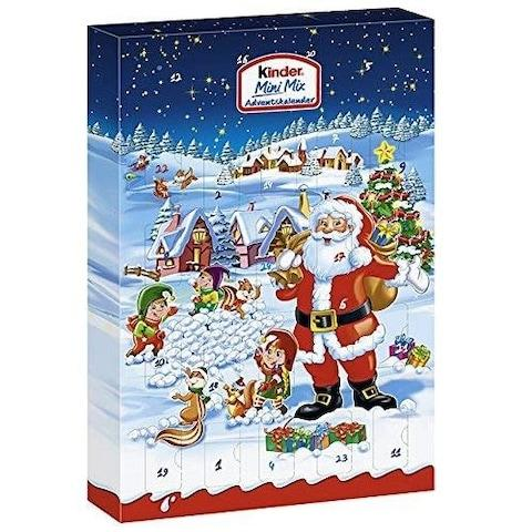 Ferrero Kinder Mini Mix Advent Calendar from Debenhams - Credit: Amazon