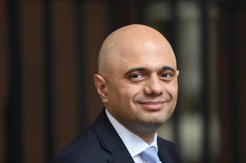 Home Secretary Sajid Javid arrives for a cabinet meeting at 10 Downing Street, London.