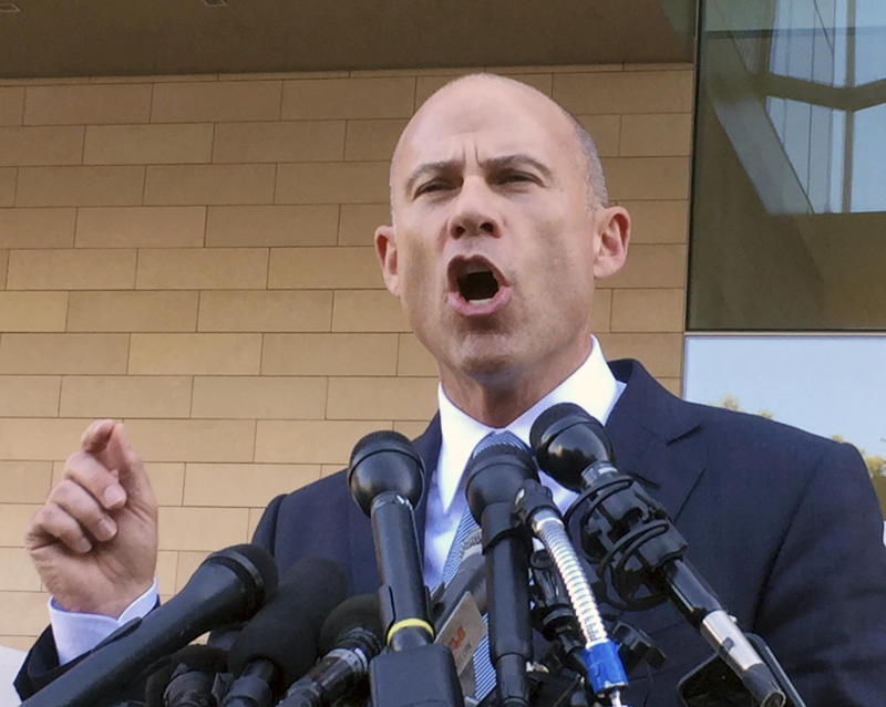 """Avenatti, who is an outspoken Trump critic, recently declared that he is """"seriously considering"""" running for president. (ASSOCIATED PRESS)"""