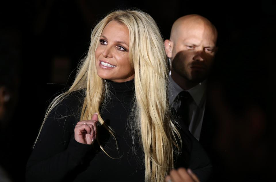 "LAS VEGAS, NV - OCTOBER 18: Singer Britney Spears attends the announcement of her new residency, ""Britney: Domination"" at Park MGM on October 18, 2018 in Las Vegas, Nevada. Spears will perform 32 shows at Park Theater at Park MGM starting in February 2019. (Photo by Gabe Ginsberg/FilmMagic)"