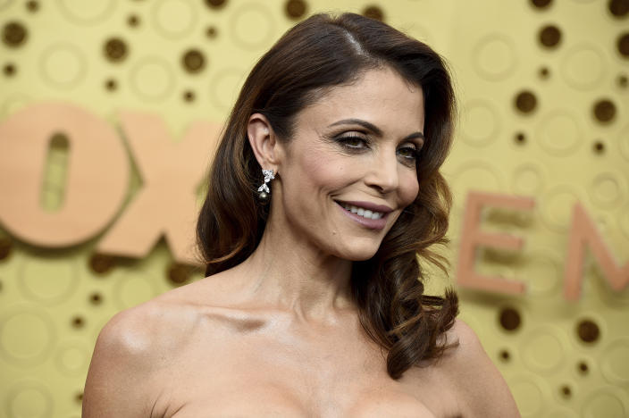 Bethenny Frankel arrives at the 71st Primetime Emmy Awards on Sunday, Sept. 22, 2019, at the Microsoft Theater in Los Angeles. (Photo by Jordan Strauss/Invision/AP)