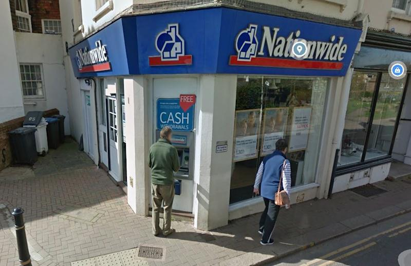 The cash machine was stolen from the Nationwide Building Society in Hurstpierpoint High Street (Picture: Google Maps)