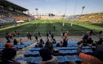 Attendances are capped in the greater Tokyo area, including Prince Chichibu Memorial Rugby Ground