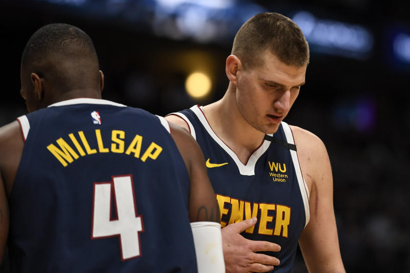 Nikola Jokic may be the best passing big man in NBA history. (AAron Ontiveroz/MediaNews Group/The Denver Post via Getty Images)