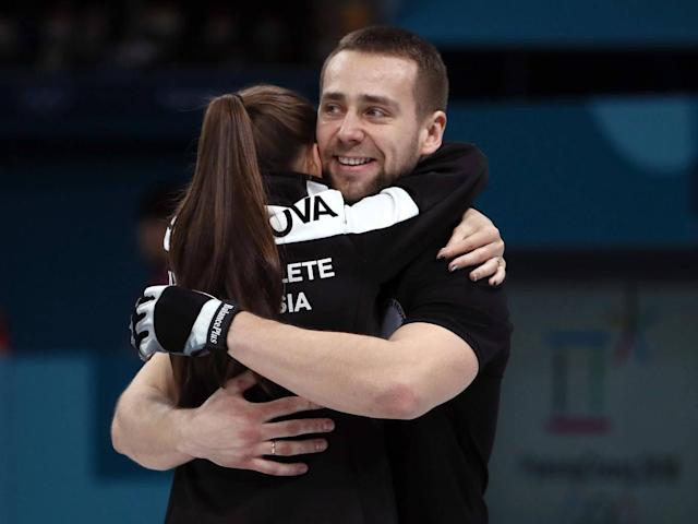 Krushelnitsky claimed bronze with his wife Anastasia Bryzgalova (Getty)