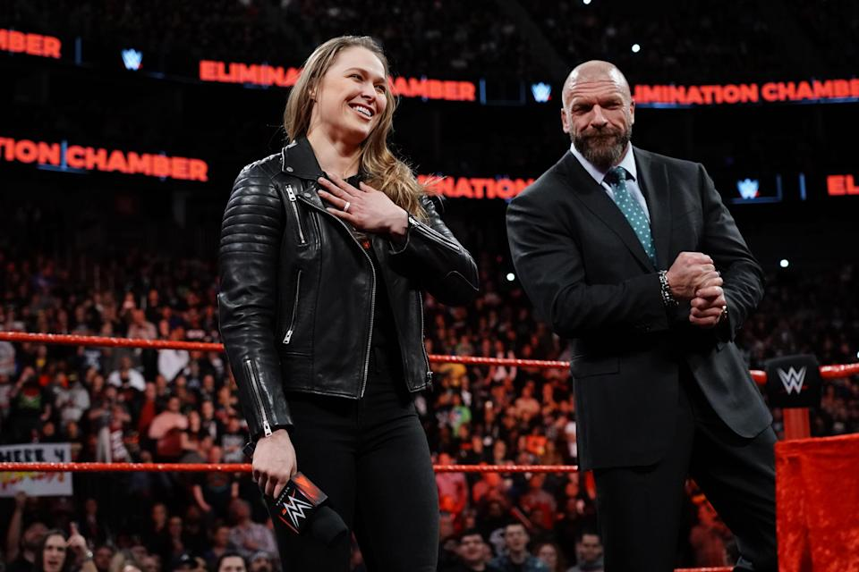 Ronda Rousey will make her in-ring WWE debut at WrestleMania 34. (Courtesy WWE)