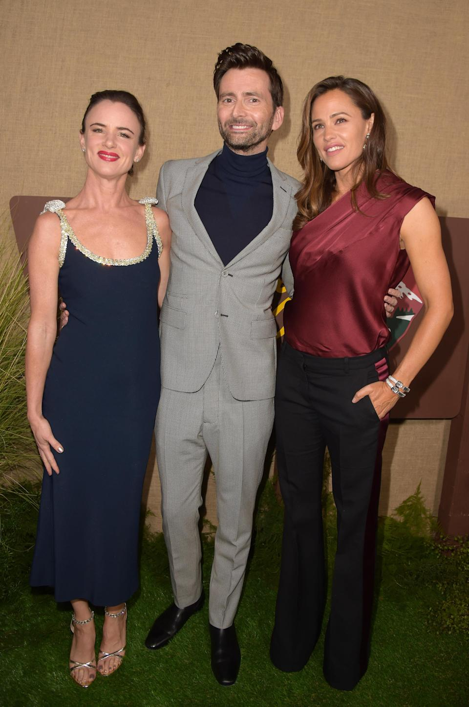 <p>The trio put on their finery for the LA premiere of their new tv show – 'Camping' – on October 10. <em>[Photo: Getty]</em> </p>