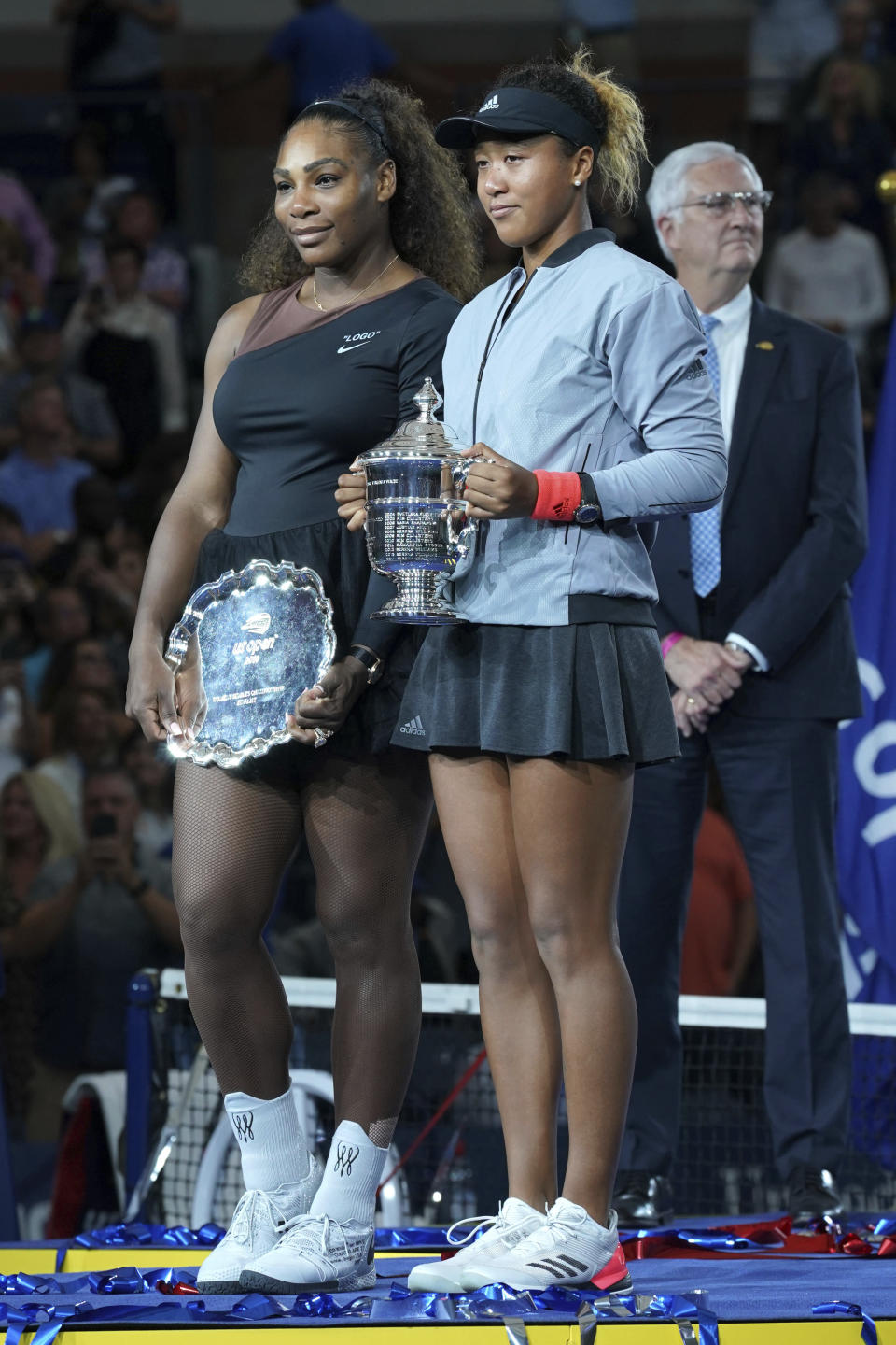 People are outraged over a racially insensitive cartoon about Serena Williams and Naomi Osaka. (Photo: Greg Allen/Invision/AP)
