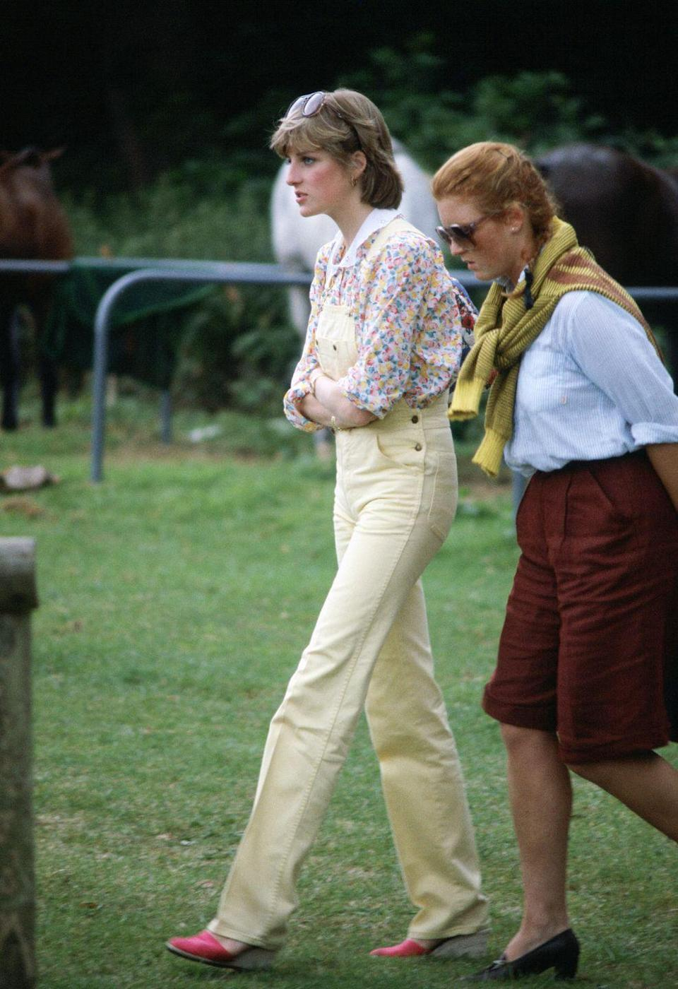 <p>Before Princess Diana even married into the House of Windsor (as she would do just two short weeks after this photo was taken), she was onto the espadrille program.<br></p>