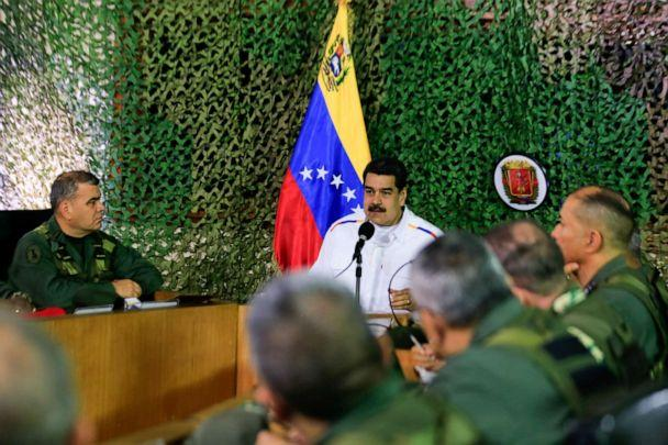 PHOTO: Venezuela's President Nicolas Maduro speaks during a meeting with military high command members in Caracas, Venezuela, July 24, 2019. (Miraflores Palace/Reuters)