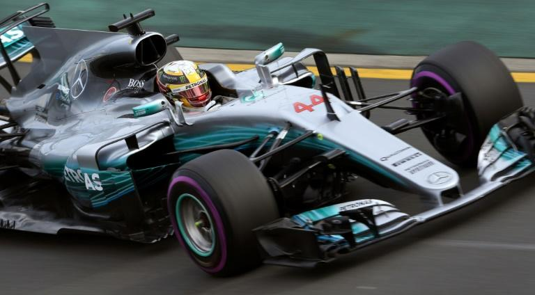 Mercedes driver Lewis Hamilton in action during practice for the Australian Grand Prix in Melbourne on March 24, 2017