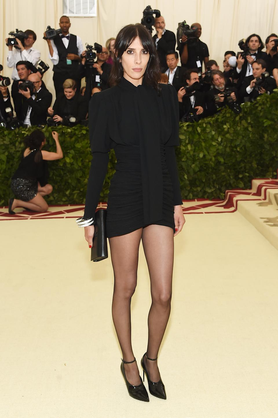 """<h1 class=""""title"""">Jamie Bochert in Saint Laurent by Anthony Vaccarello</h1><cite class=""""credit"""">Photo: Getty Images</cite>"""