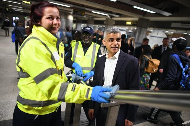 """The London Mayor said wearing masks could add """"another layer of protection"""" to the public (Stefan Rousseau/PA)"""