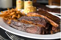 """<p>As far as proteins go, Kansas City barbecue offers a little bit of everything thanks to the city being a major meatpacking hub. Smoked low and slow over hickory, you'll find <a href=""""https://www.thedailymeal.com/recipes/pulled-pork-sliders-recipe-1?referrer=yahoo&category=beauty_food&include_utm=1&utm_medium=referral&utm_source=yahoo&utm_campaign=feed"""" rel=""""nofollow noopener"""" target=""""_blank"""" data-ylk=""""slk:ribs"""" class=""""link rapid-noclick-resp"""">ribs</a>, <a href=""""https://www.thedailymeal.com/recipes/sweet-smoky-bbq-brisket-sandwiches-mccormick?referrer=yahoo&category=beauty_food&include_utm=1&utm_medium=referral&utm_source=yahoo&utm_campaign=feed"""" rel=""""nofollow noopener"""" target=""""_blank"""" data-ylk=""""slk:brisket"""" class=""""link rapid-noclick-resp"""">brisket</a>, <a href=""""https://www.thedailymeal.com/recipes/bbq-chicken-wings-smoky-sweet-potato-salad-and-coleslaw-recipe?referrer=yahoo&category=beauty_food&include_utm=1&utm_medium=referral&utm_source=yahoo&utm_campaign=feed"""" rel=""""nofollow noopener"""" target=""""_blank"""" data-ylk=""""slk:chicken"""" class=""""link rapid-noclick-resp"""">chicken</a>, <a href=""""https://www.thedailymeal.com/recipes/marinated-grilled-leg-lamb-recipe-0?referrer=yahoo&category=beauty_food&include_utm=1&utm_medium=referral&utm_source=yahoo&utm_campaign=feed"""" rel=""""nofollow noopener"""" target=""""_blank"""" data-ylk=""""slk:lamb"""" class=""""link rapid-noclick-resp"""">lamb</a>, <a href=""""https://www.thedailymeal.com/salmon-fish-recipe?referrer=yahoo&category=beauty_food&include_utm=1&utm_medium=referral&utm_source=yahoo&utm_campaign=feed"""" rel=""""nofollow noopener"""" target=""""_blank"""" data-ylk=""""slk:fish"""" class=""""link rapid-noclick-resp"""">fish</a> and just about any other protein you can think of, all served with a thick, sweet, tomato- and molasses-based sauce. If there's one particular cut Kansas City is known for, it's burnt ends: thick cubes of fatty brisket, smoked extra low and slow. As far as KC barbecue joints, you can't beat Joe's Kansas City, Arthur Bryant's and Gates.</p>"""