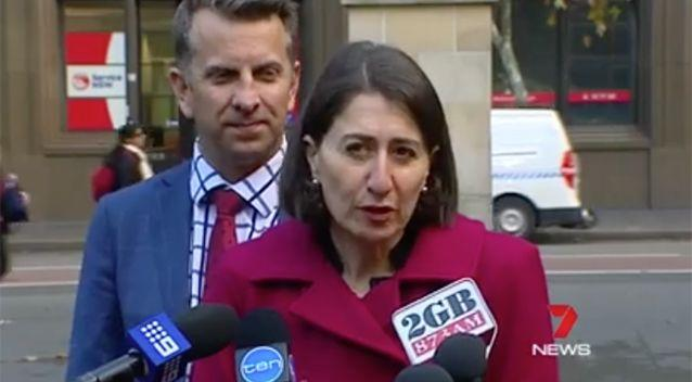 Premier Gladys Berejiklian and Minister for Transport Andrew Constance made the announcement on Tuesday. Photo: 7 News
