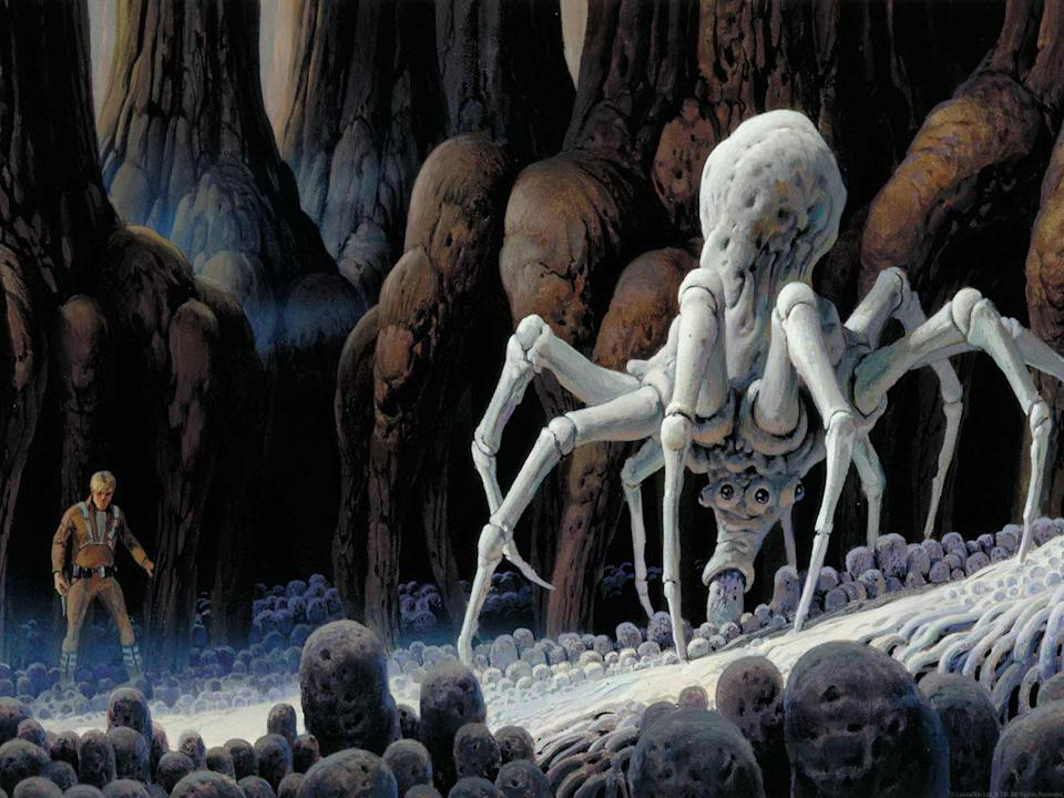 Giant spiders appeared in early Star Wars concept art (credit LucasFilm)