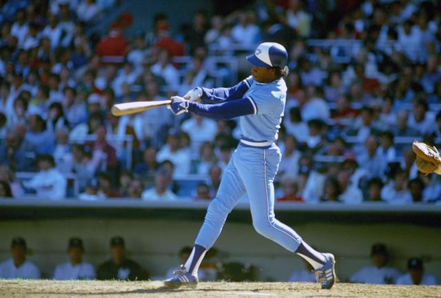 NEW YORK - CIRCA 1985: Tony Fernandez wore the powder blue in Toronto for a number of years. (Photo by Focus on Sport/Getty Images)