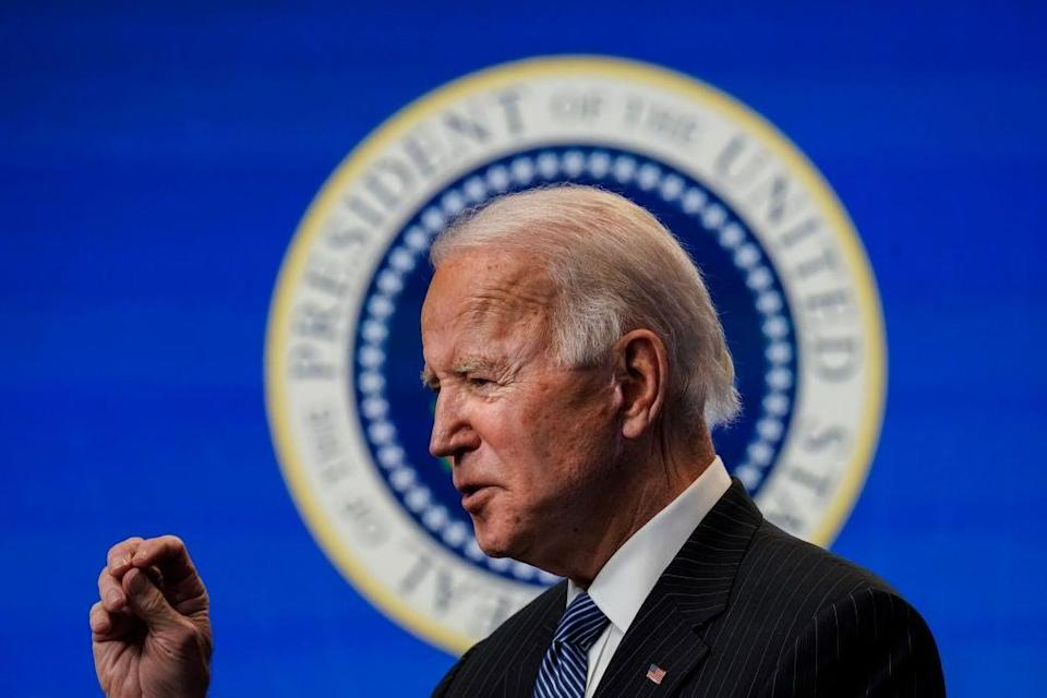Joe Biden had his first conversation as president with his Russian counterpart, Vladimir Putin, on Tuesday. (Getty Images)