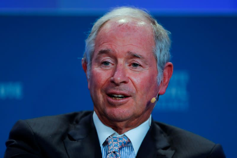 Blackstone's Schwarzman says cannot buy Bloomberg while owning Refinitiv