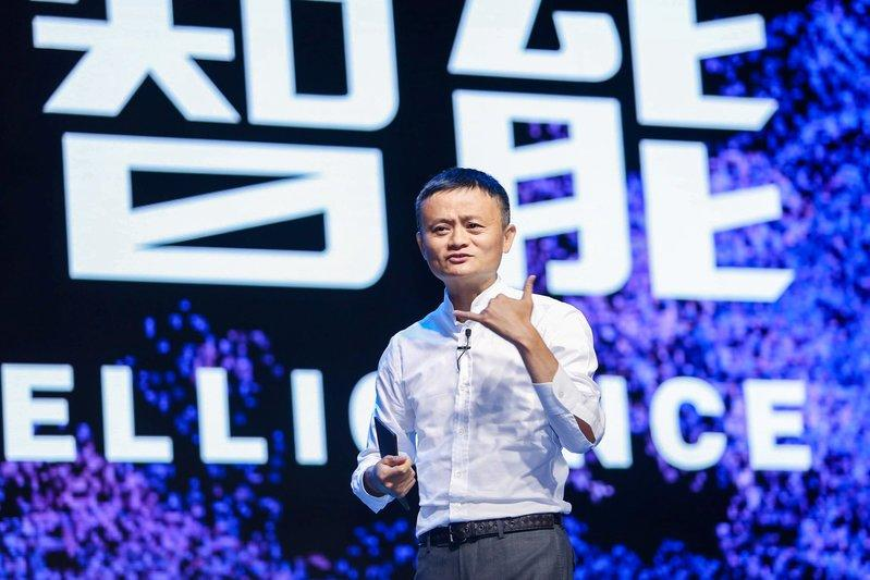 Jack Ma, Chairman of Alibaba Group, speaks during the Computing Conference in Yunqi Town of Hangzhou, Zhejiang province, China October 11, 2017. REUTERS/Stringer