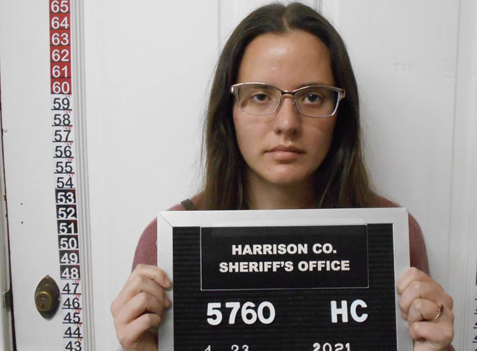 Corissa McCalister, 22, is pictured.