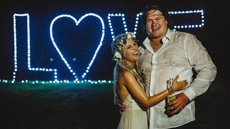 They got engaged on Valentine's Day but just a week later, Mikaila found out she had cancer. Photo: Beth Fernley Photography