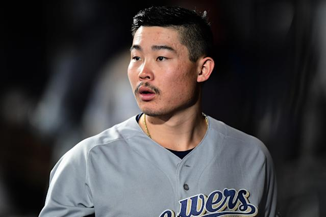 Brewers rookie second baseman Keston Hiura has been a helpful cog with Christian Yelich out for the years. (Ron Chenoy-USA TODAY Sports