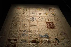 The Changi Quilts sewn by women prisoners. Photo: Coconuts