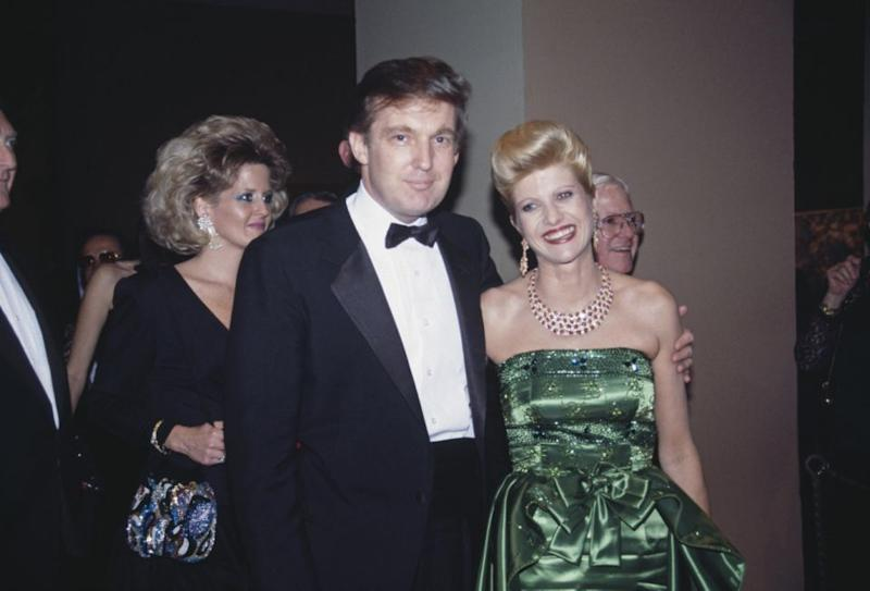 Trump with his first wife, Ivana at the 1987 Met Gala. Photo: Getty Images