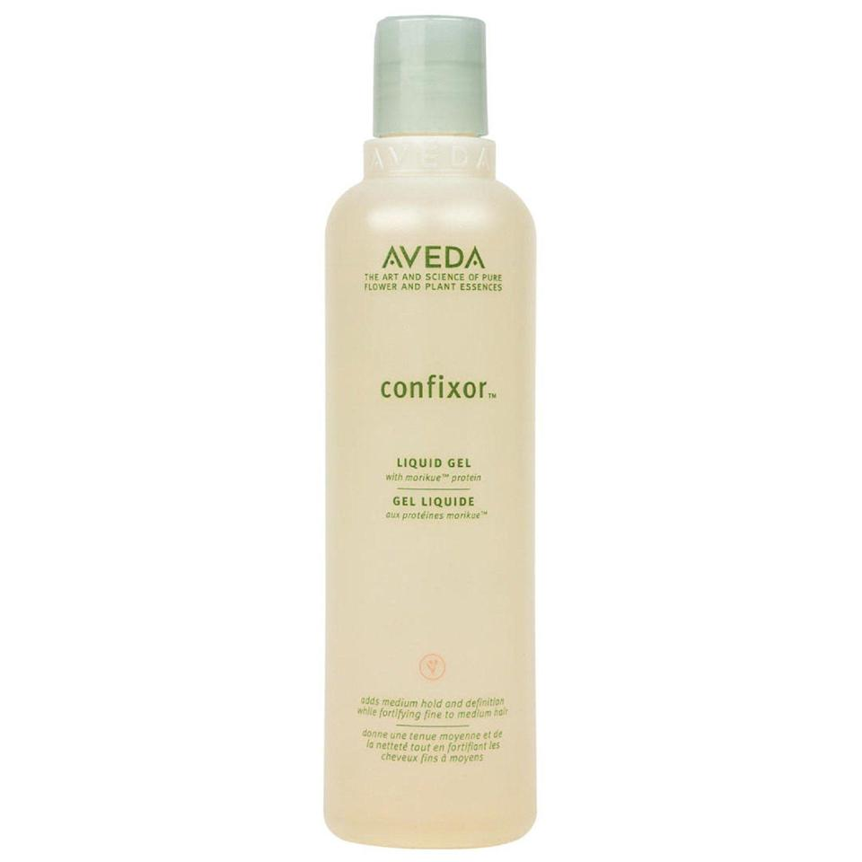 """<p><strong>AVEDA</strong></p><p>nordstrom.com</p><p><strong>$22.00</strong></p><p><a href=""""https://go.redirectingat.com?id=74968X1596630&url=https%3A%2F%2Fshop.nordstrom.com%2Fs%2Faveda-confixor-liquid-gel%2F3412052&sref=https%3A%2F%2Fwww.goodhousekeeping.com%2Fbeauty-products%2Fg33809765%2Fbest-gel-for-curly-hair%2F"""" rel=""""nofollow noopener"""" target=""""_blank"""" data-ylk=""""slk:Shop Now"""" class=""""link rapid-noclick-resp"""">Shop Now</a></p><p>Hardges likes this gel because it's super versatile — you<strong> can use this gel on all curl types, from loose waves to tight coils.</strong> Reviewers also loves how much definition and body this gel gives their hair. </p>"""