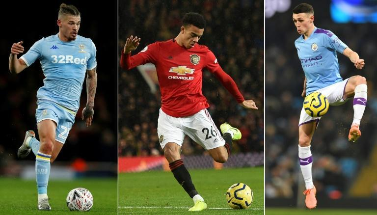 Kalvin Phillips (left) and Phil Foden (right) hope to match the impact of Mason Greenwood (centre) in the Premier League
