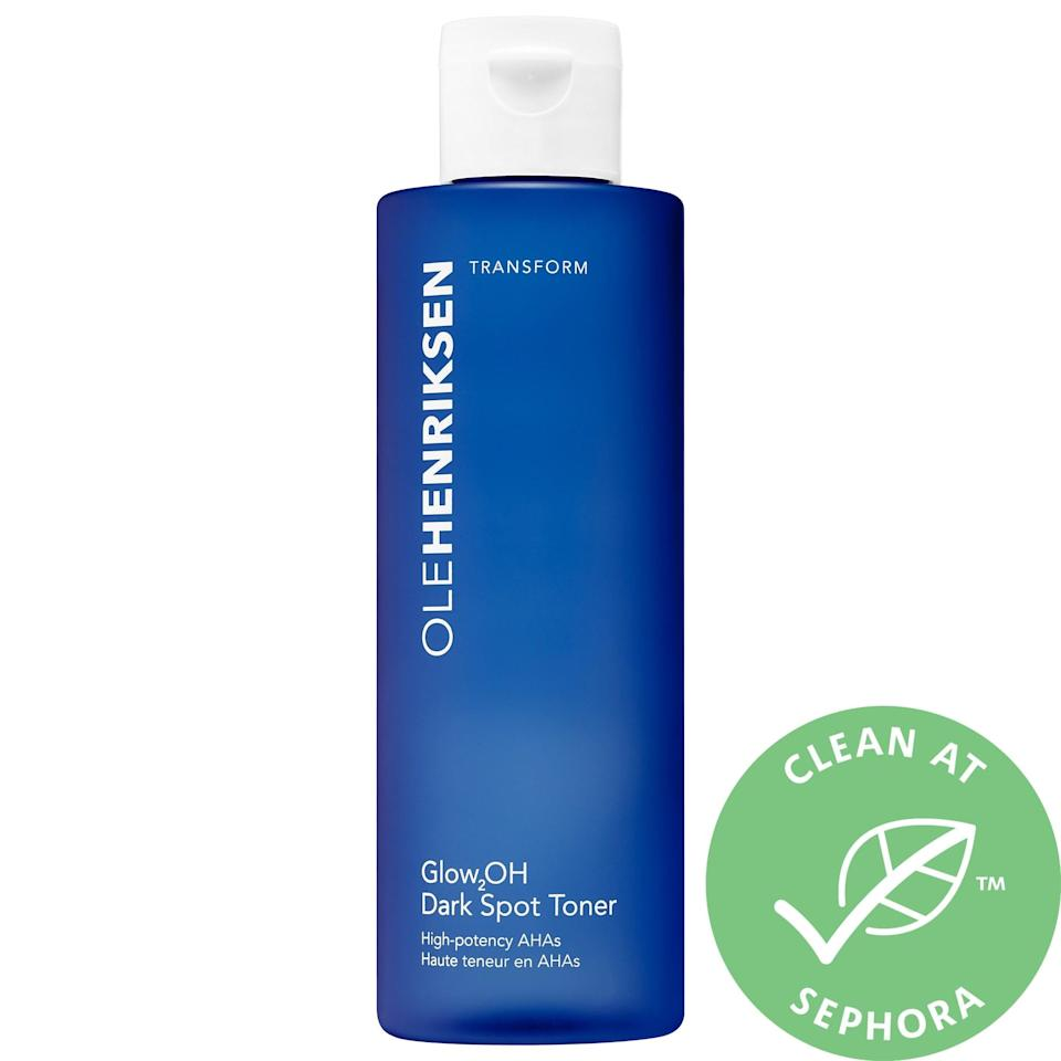 <p>With powerful AHAs and witch hazel inside, this bestselling <span>Olehenriksen Glow2OH Dark Spot Toner</span> ($16-$34) is a perfect ally when you're looking to target dark spots and brighten skin. Not only does it work to even out your skin tone, it also tones your skin, leaving it set for any serums or moisturizers that follow.</p>