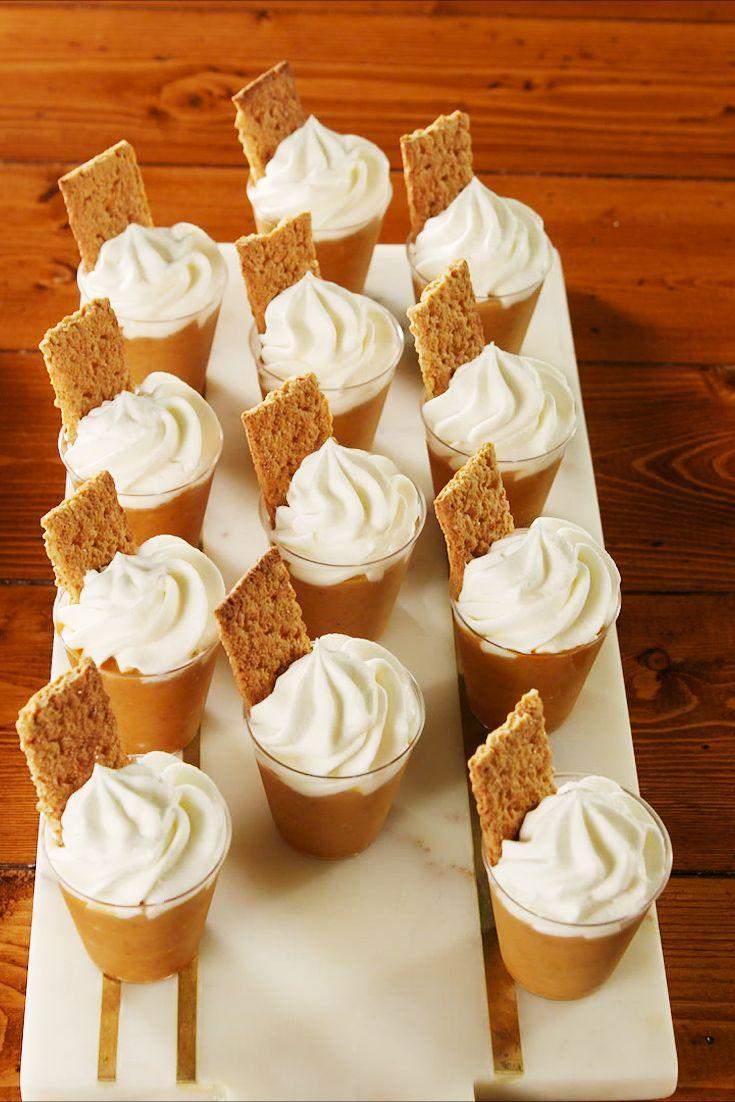 "<p>The most essential fall duo. </p><p>Get the recipe from <a href=""https://www.delish.com/cooking/recipe-ideas/a23724315/pumpkin-pie-pudding-shots-recipe/"" rel=""nofollow noopener"" target=""_blank"" data-ylk=""slk:Delish"" class=""link rapid-noclick-resp"">Delish</a>. </p>"